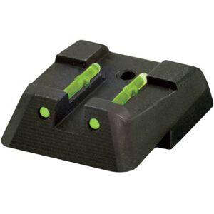 HiViz LiteWave Fiber Optic Rear Sight HK45/P30/VP Series Pistols Metal Housing Black Finish