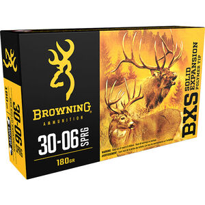 Browning .30-06 Springfield Ammunition 20 Rounds BXS 180 Grains
