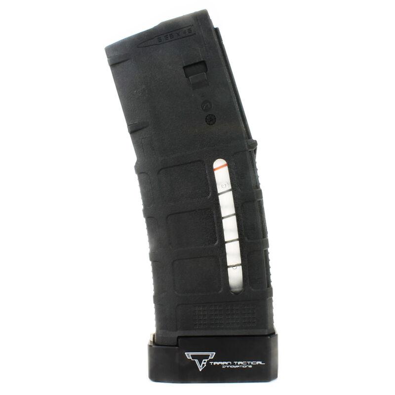 Taran Tactical Innovations Firepower Base Pad Kit +5/+6 Magpul PMAG Gen 3 30/40 Magazines CNC Machined Billet Aluminum Anodized Black Finish