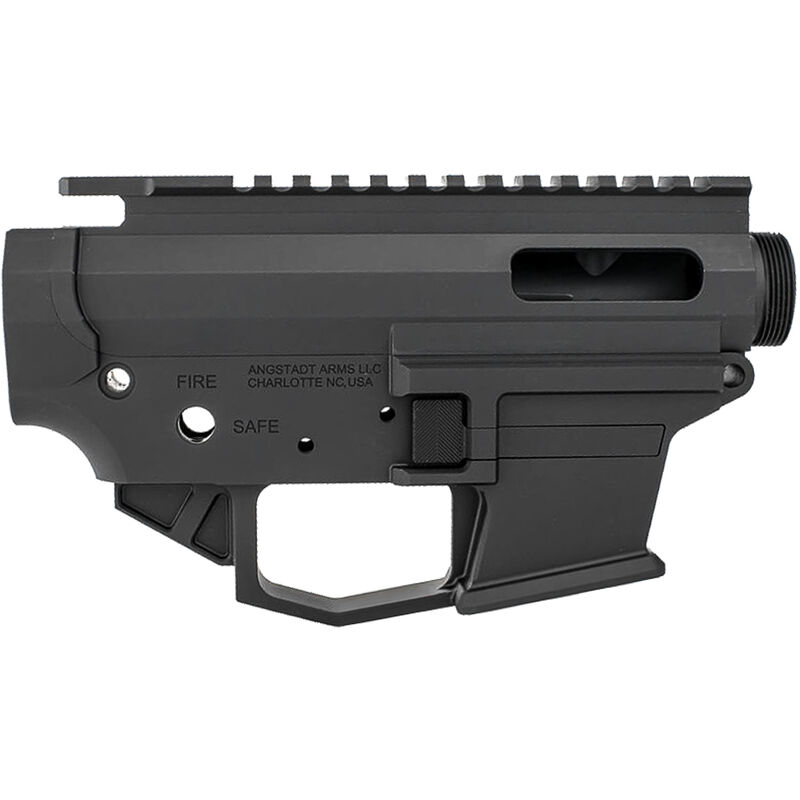 Angstadt Arms 1045 Pistol Caliber AR-15 Upper/Lower Receiver Set .45 ACP/.10mm Auto Billet Aluminum Accepts GLOCK Style Magazines Black Finish