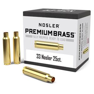 Nosler Premium Prepped Components .33 Nosler Unprimed Rifle Brass Cases 25 Count