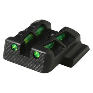 HiViz LiteWave Fiber Optic Rear Sight S&W M&P Model Pistols Metal Housing Black Finish