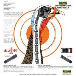 """Primos Shotgun Patterning Turkey Paper Target 10.75""""x11.5"""" 12 Pack"""