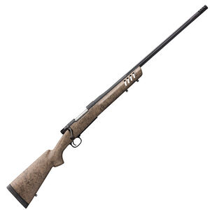 "Winchester Model 70 Long Range MB .22-250 Remington Bolt Action Rifle 24"" Barrel 5 Rounds Tan/Black Spider Web Composite Stock Matte Blued Finish"