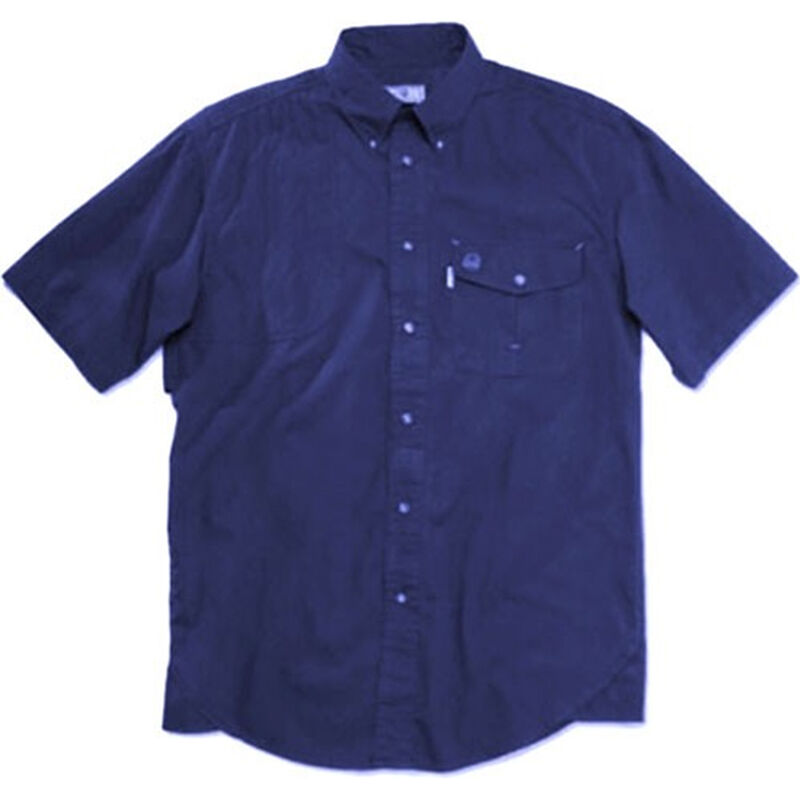 Beretta USA Shooting Shirt Short Sleeve Cotton Moisture Wicking Fabric Blue Small