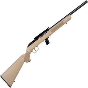 "Savage Model 64 FV-SR .22 LR Semi Auto Rimfire Rifle 16.5"" Threaded Barrel 10 Rounds with One Piece Scope Rail FDE Synthetic Stock Blued Finish"