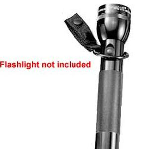C-Cell Flashlight & Straight Baton Holder Black Nylon