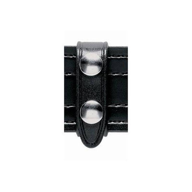 "Safariland Model 65 Leather Belt Keeper, Two Brass Snaps, 3/4"" wide, 2.25"" Belt, Hi Gloss Black"