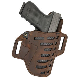 Versacarry Compound Series OWB Holster fits most 1911s Right Hand Hybrid Leather / Kydex Distressed Brown C2212-1