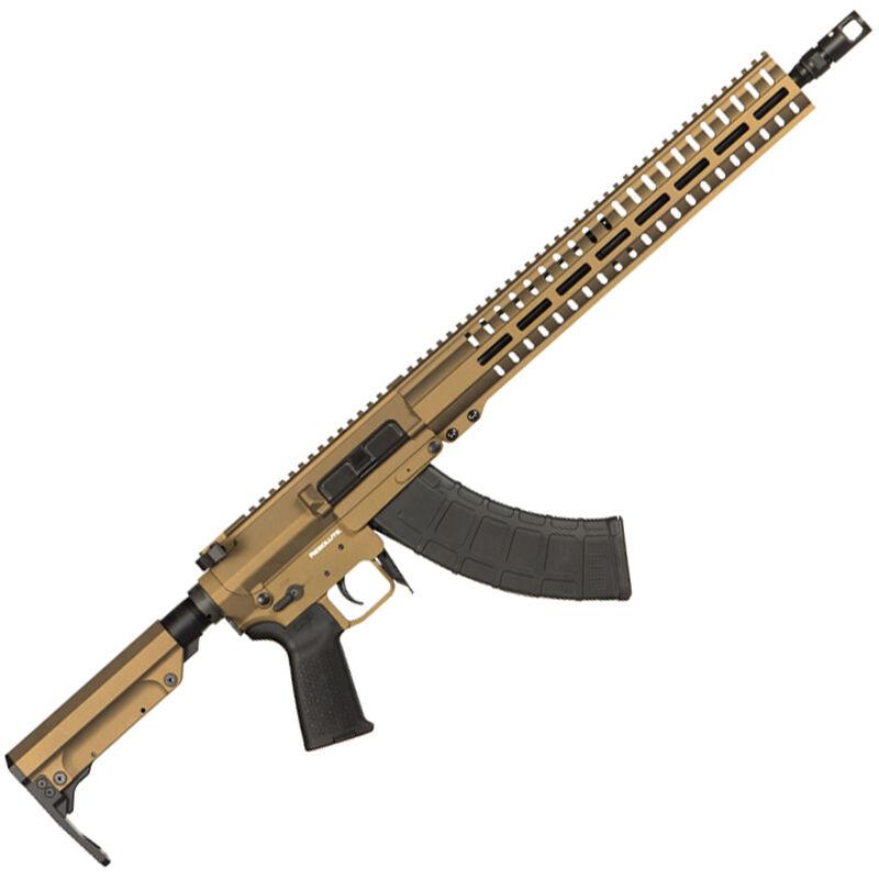 "CMMG Resolute 300 Mk47 7.62x39mm AR-15 Style Semi Auto Rifle 16"" Barrel 30 Round AK-47 Magazine RML15 M-LOK Handguard RipStock Collapsible Stock Burnt Bronze Finish"