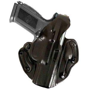 DeSantis Thumb Break Scabbard Belt Holster For GLOCK 26/27/33 Right Hand Leather Black 001BAE1Z0