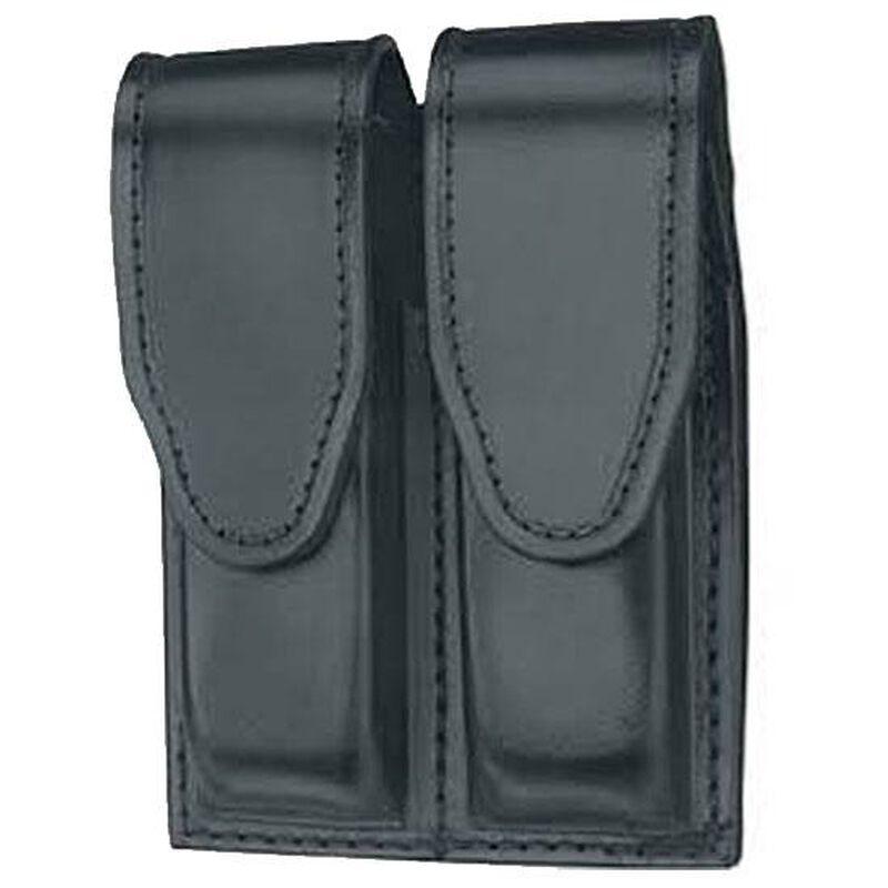 Gould & Goodrich Double Magazine Case Leather H&K GLOCK 17  Hidden Snap Plain Black Finish B629-7