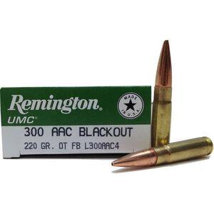 Remington .300 Blackout Ammunition 20 Rounds, OTM, 220 Grains