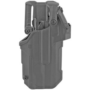Blackhawk T-Series L3D Red Dot Sight Duty Holster Fits Sig P320/250 with TLR1/TLR2 Right Hand Polymer Black