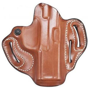 """DeSantis Speed Scabbard Belt Holster fits GLOCK 48 OWB 1.75"""" Right Hand Leather Tan"""