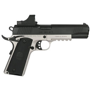 "EAA GiRSAN MC1911S Government Model .45 ACP Semi Auto Pistol 5"" Barrel 8 Rounds Red Dot Optic Ambidextrous Safety Two Tone Finish"