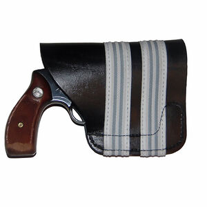 Blue Stone Safety Products Pocket Holster Small Revolvers Ambidextrous Leather Black P301