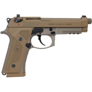 "Beretta M9A3 G 9mm Luger SA/DA Semi Auto Pistol 5"" Threaded Barrel 10 Rounds Night Sights Decocker Polymer Grips FDE Finish"