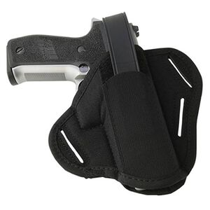 "Uncle Mike's Hidden Hammer 3""-4"" Barrel Medium Frame Semi Autos Super Belt Slide Holster Ambidextrous Nylon Black 8601-0"