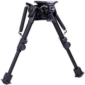 "Aimtech Tactical Bi-Pod with Lever Locking Pivot Sling Swivel Mount 6"" to 9"" Aluminum Black"