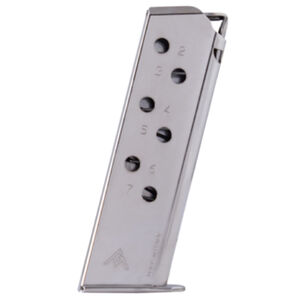Mec-Gar Walther PPK/S 7 Round Magazine .380 ACP Carbon Steel Tube Nickel Finish