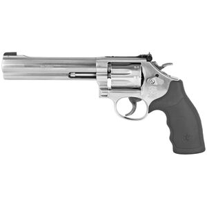 "S&W Model 648 .22 WMR Double Action Revolver 6"" Barrel 8 Round Patridge Front Sight Synthetic Grips Stainless Steel"