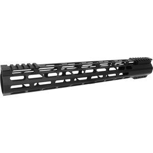 """TacFire AR-15 15"""" Slim M-LOK Free Float Hand Guard Aluminum Black"""