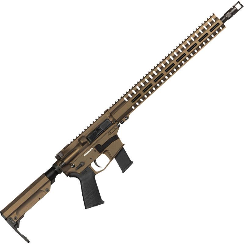 "CMMG Resolute 300 MkG .45 ACP AR-15 Semi Auto Rifle 16"" Barrel 13 Rounds Uses GLOCK Style Magazines RML15 M-LOK Handguard RipStock Collapsible Stock Midnight Bronze Finish"