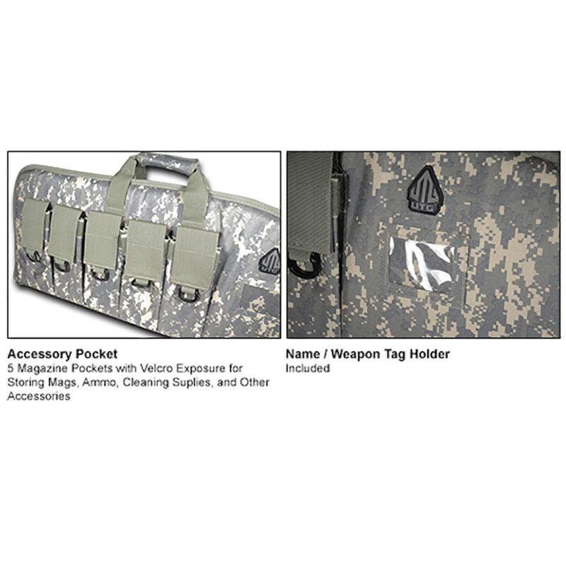 """Leapers UTG DC Series Tactical Gun Case 38"""" Water Resistant Army Digital PVC-DC38R-A"""