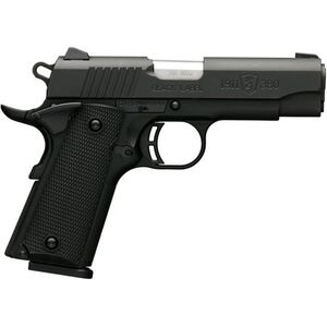 """Browning 1911-380 Black Label Compact Semi Auto Pistol .380 ACP 3.625"""" Barrel 8 Rounds Synthetic Grips Polymer Frame Matte Black Finish"""