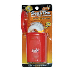 HME Products Seal Tite Wick Container and 3 Big Dipper Wicks Orange and White