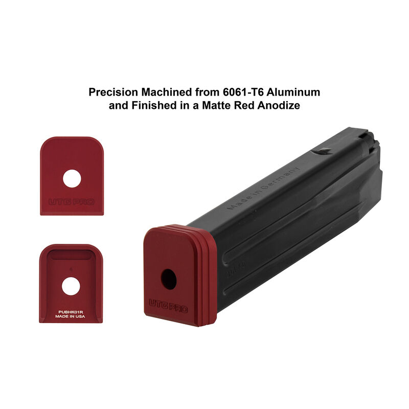 UTG PRO +0 Base Pad, HK VP9/P30 9/40, Matte Red Aluminum