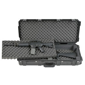 "SKB iSeries 3614 Double M4/Short Rifle Case 36.50"" x 14.50"" x 5.50"" Custom Foam Interior Latch Closure Carry Handle Waterproof Hard Shell Polymer Matte Black 3i-3614-DR"
