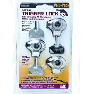 DAC Technologies Metal Trigger Lock 3-Pack MTL100