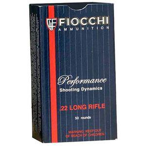 Fiocchi Standard Velocity .22LR Ammunition 40 Grain LRN 1050 fps