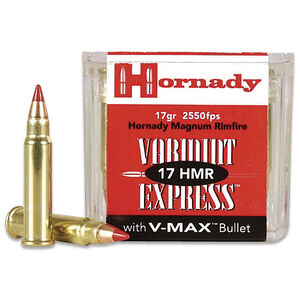 Hornady .17 HMR Ammunition 50 Rounds, V-MAX Polymer, 17 Grains