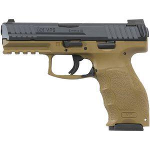 "H&K VP9 9mm Luger 4.09"" Barrel 15rds Night Sights Poly FDE"