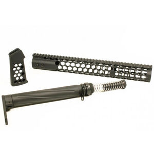 GunTec AR-15 Honeycomb Series Complete Furniture Set Matte Black