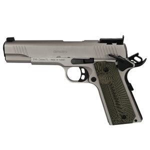 """EAA GiRSAN MC1911 Match Model .45 ACP Semi Auto Pistol 5"""" Barrel 8 Rounds Adjustable Rear Sight Ambidextrous Safety Nickel Finish"""