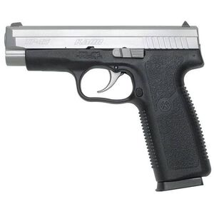 "Kahr Arms TP45 Semi-Automatic Pistol, .45 ACP, 4.04"" Barrel, 7 Rounds, Black Polymer Frame, Matte Stainless Steel Slide, White Bar Dot Sights TP4543"
