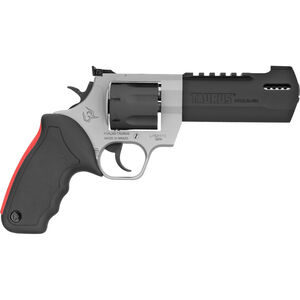 """Taurus Raging Hunter .357 Mag DA/SA Revolver 5.125"""" Ported Barrel 7 Rounds Adjustable Rear Sight Picatinny Top Rail Rubber Grip Two Tone Stainless/Black"""
