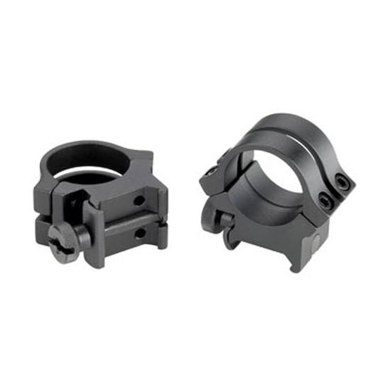 "Weaver Quad Lock Detachable 1"" Tip Off Rings Aluminum Matte Black"