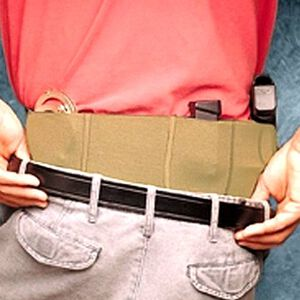 DeSantis Belly Band Holster Small Framed Autos Medium Ambidextrous Elastic Natural 060NJG2Z0