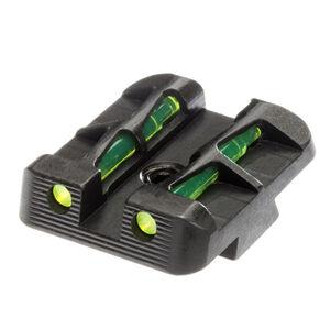 HiViz LiteWave Fiber Optic Rear Sight Springfield Armory XD/XD(M)/XD-S Models Metal Housing Black Finish