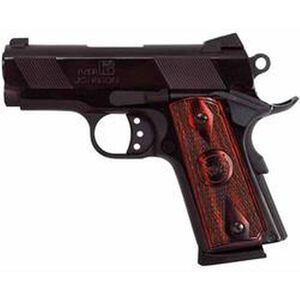 "Iver Johnson 1911 Thrasher Semi Auto Handgun .45 ACP 3.125"" Barrel 7 Rounds Checkered Wood Grips Polished Blued Finish IJ06"