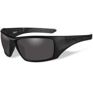 Wiley X Eyewear Nash Ballistic Sunglasses Polarized Smoke Grey Lens Black Ops Matte Black Frame
