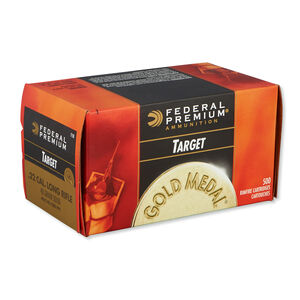 Federal Gold Medal Target .22LR Ammunition 40 Grain Lead Round Nose 1080 fps