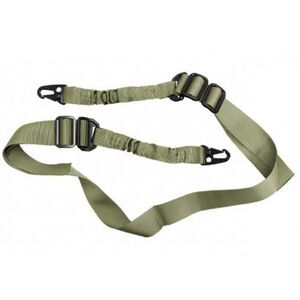 JE Machine Tech 2 Point Bungee Sling QD Hook Connectors Nylon and Bungee Green