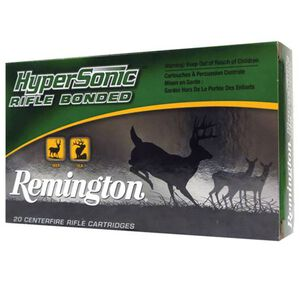 Remington HyperSonic Bonded .223 Rem Ammunition 62 Grain Core-Lokt Ultra Bonded, PSP 3262