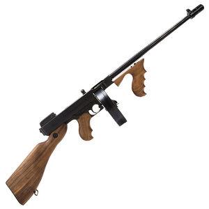 "Auto-Ordnance Thompson 1927A-1 Deluxe Semi Auto Carbine .45 ACP 16.5"" Finned Barrel 10 Round Drum Magazine Blade Front Sight Walnut Stock/Grip Blued Finish T1D"
